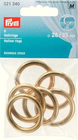 Prym Hohlringe MS 26/35 mm goldfarbig NML