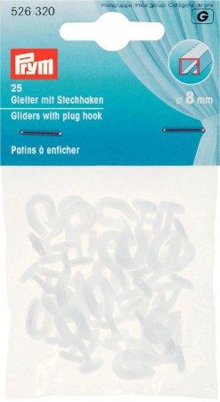 Prym Gleiter mit Stechhaken 8 mm weiss