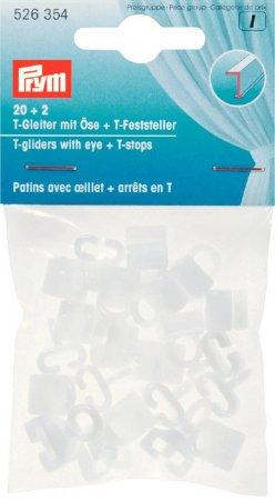 Prym T-Gleiter mit Öse&T-Feststeller weiss 20 + 2 Stk NML