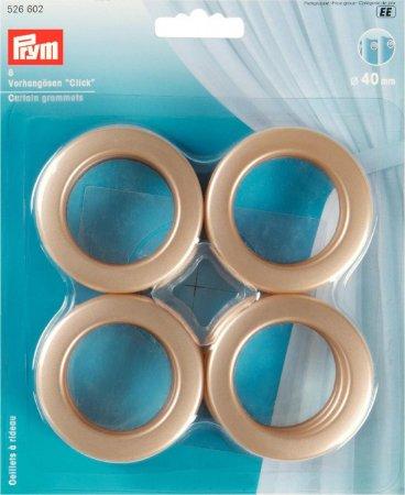 Prym Vorhangösen Click 40 mm goldfarbig matt
