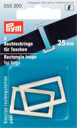 Prym Rechteckringe für Taschen 25 mm silberfarbig