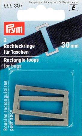 Prym Rechteckringe für Taschen 30 mm altsilber