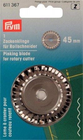 Prym Ersatzklinge für Rollschneider Zacken 45 mm
