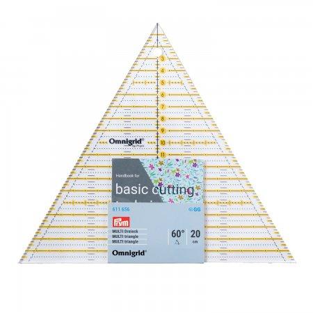 Prym Patchwork-Lineal 60 Grad Dreieck Multi 20 cm Omnigrid