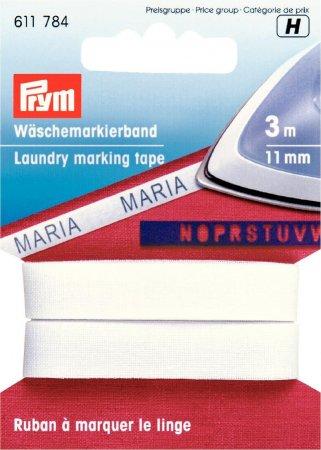 Prym Wäschemarkierband BW aufbügelbar 11 mm weiss