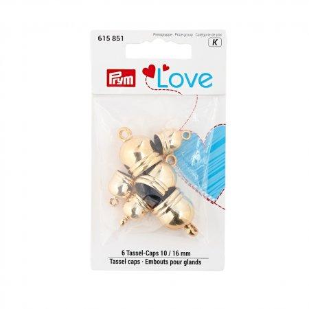 Prym Prym Love Tassel caps 10 + 16 mm goldfarbig