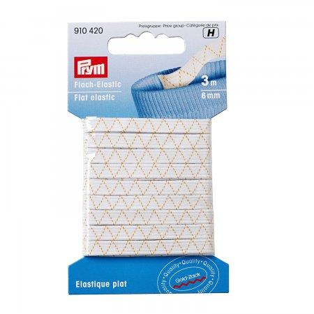 Prym Flach-Elastic 6 mm weiss