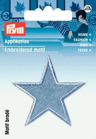 Prym Applikation Sterne jeans hellblau
