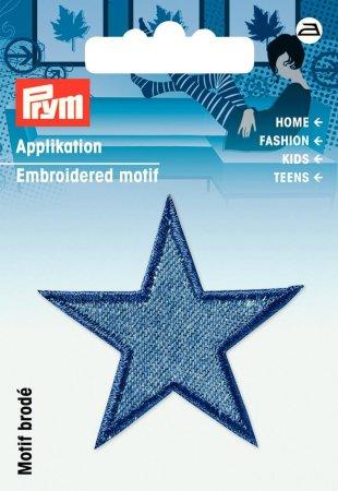Prym Applikation Sterne jeans mittelblau