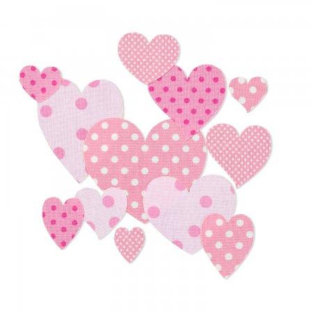 Prym Applikation Puzzle aufbügelbar Herzen pink