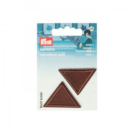 Prym Applikation Dreiecke Lederimitat braun