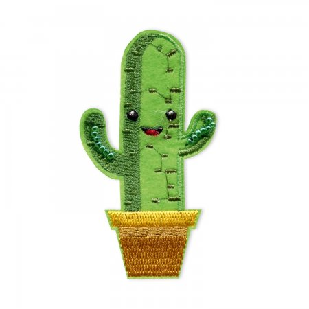 Prym Applikation Kaktus grün Gesicht
