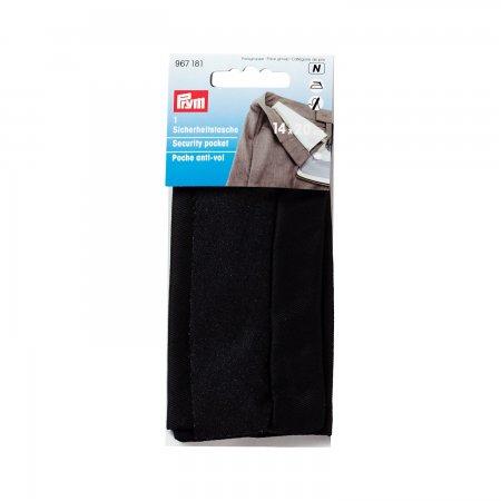 Prym Sicherheitstasche mit Reissverschluss 14 x 20 cm schwarz