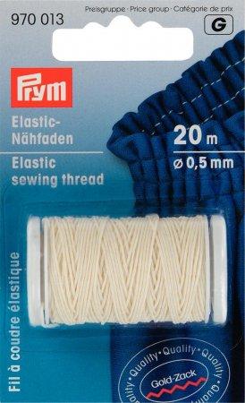 Prym Elastic-Nähfaden 0,5 mm rohweiss