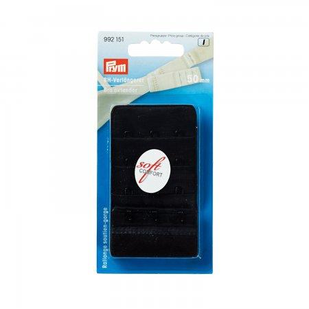 Prym BH-Verlängerer 3 x 3 Haken 50 mm schwarz