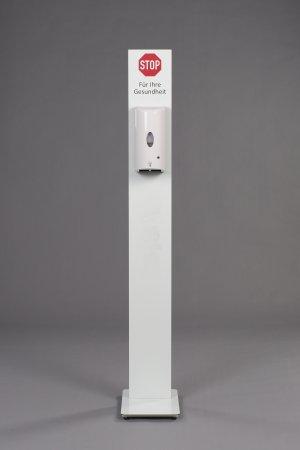 Desinfektionsstele Aluverbund weiß ohne Aufdruck (Prime)