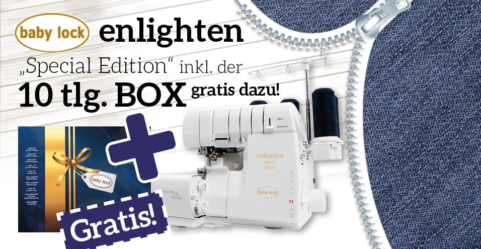"""Babylock """"enlighten"""" inkl. Special Edition Box"""