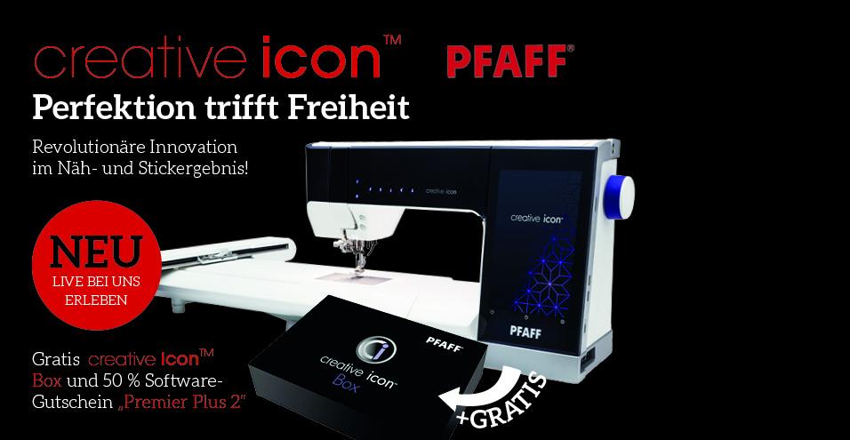 Perfektion:  PFAFF – creative icon™ inkl. BOX und Gutschein