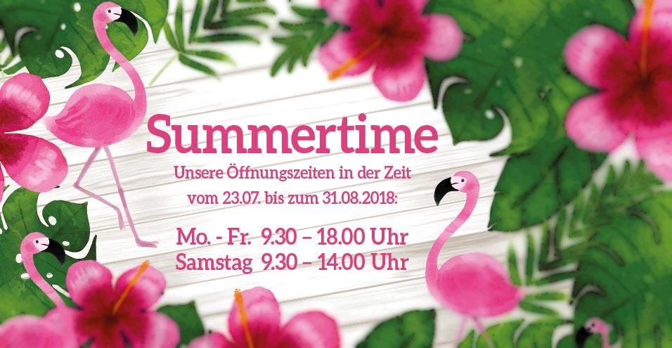 Unsere Öffnungszeiten im Sommer