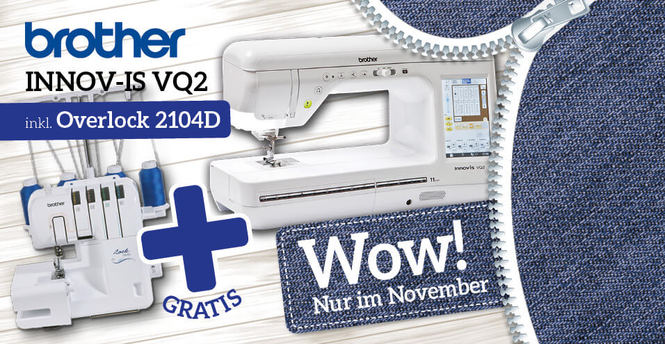 brother Innov-is VQ2 inkl. Overlock 2104D