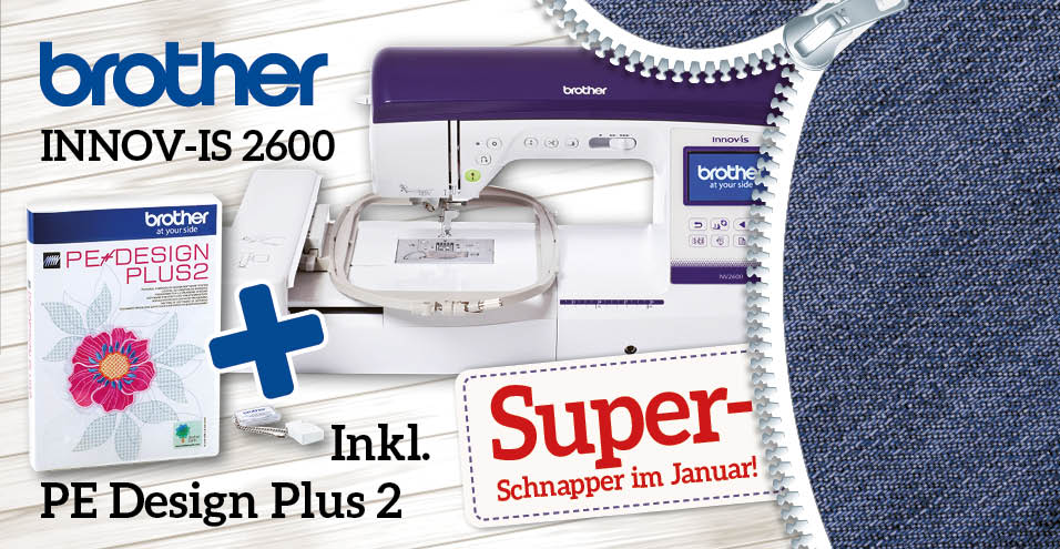 brother Innov-is NV2600 inkl. PE Design Plus 2