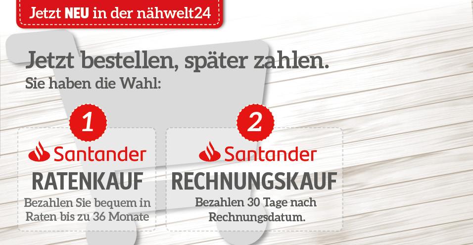 Santander Raten- oder Rechnungskauf
