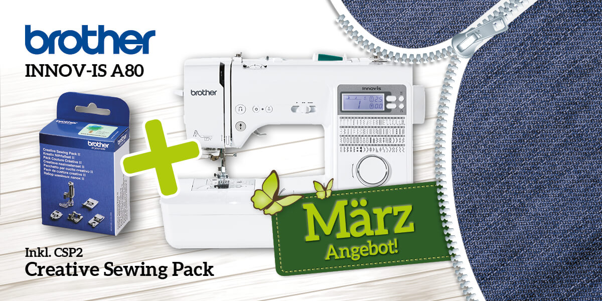 brother Innov-is A80 inkl. CSP2 Creative Sewing Pack