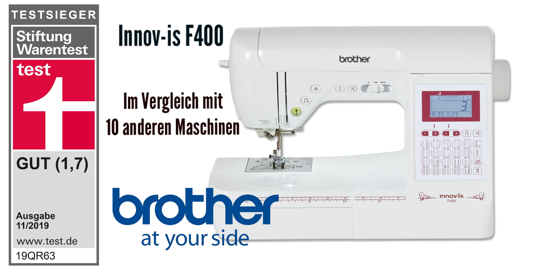 brother F400 Stiftung Warentest