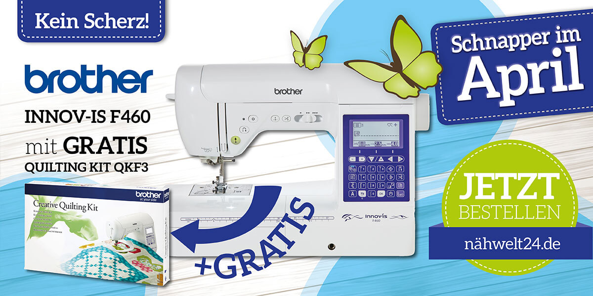 brother Innov-is F460 inkl. Quilting Kit QKF3
