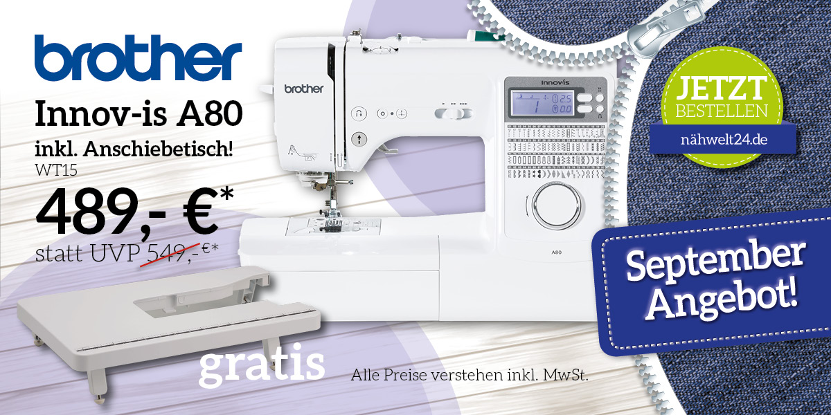 brother Innov-is A80 inkl. Anschiebetisch