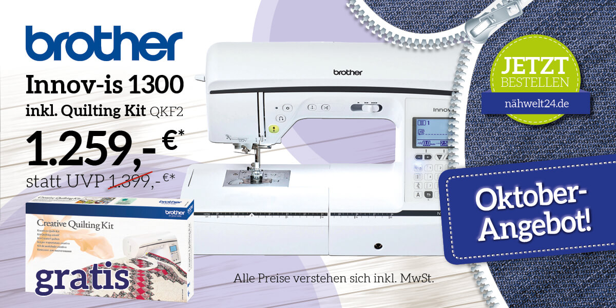 brother Innov-is 1300 inkl. Quilting Kit QKF2
